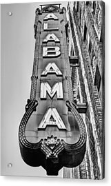 The Alabama Theater In Black And White Acrylic Print by JC Findley
