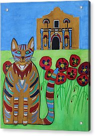 the Alamo Cat Acrylic Print