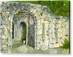 Acrylic Print featuring the mixed media The Alamo by Lynn Babineau