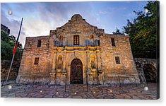 Acrylic Print featuring the photograph The Alamo - San Antonio Texas by Gregory Ballos