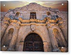 Acrylic Print featuring the photograph The Alamo Under Fire - San Antonio Texas by Gregory Ballos