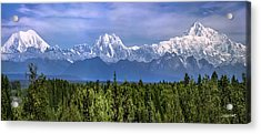 Acrylic Print featuring the photograph The Alaska Range by Claudia Abbott