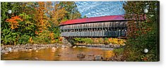 Acrylic Print featuring the photograph The Albany Bridge - Kancamagus Highway by Expressive Landscapes Fine Art Photography by Thom