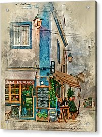 The Albar Coffee Shop In Alvor. Acrylic Print