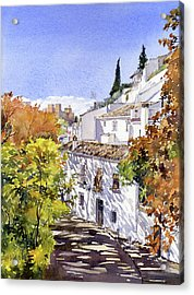 The Alhambra From Sacromonte Granada Acrylic Print