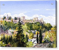 The Alhambra From Sacromonte Acrylic Print