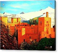 The Alhambra Of Granada Acrylic Print by Manuel Sanchez