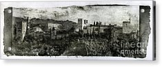 The Alhambra Palace Gum Bichromate Acrylic Print by Guido Montanes Castillo