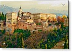 The Alhambra  Acrylic Print by Rita Mueller