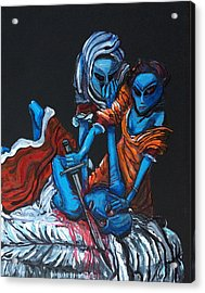 The Alien Judith Beheading The Alien Holofernes Acrylic Print