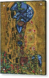 The Alien Kiss By Blastoff Klimt Acrylic Print