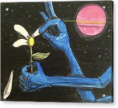 The Alien Loves Me... The Alien Loves Me Not Acrylic Print