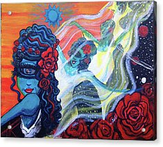 The Alien Scarlet Begonias Acrylic Print