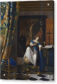 The Allegory Of The Faith Acrylic Print by Jan Vermeer