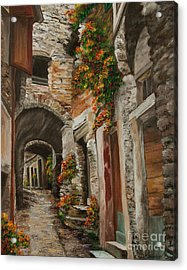 The Alleyway Acrylic Print by Charlotte Blanchard