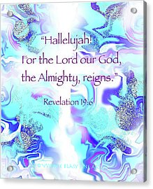 The Almighty Reigns Acrylic Print