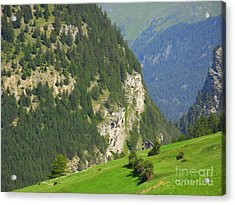 The Alps In Spring Acrylic Print