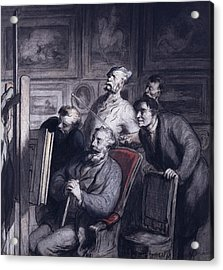The Amateurs Acrylic Print by Honore Daumier