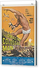 The Amazing Colossal Man Movie Poster Acrylic Print