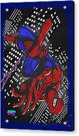 The Amazing Spider-man Acrylic Print by Joseph Burke
