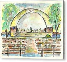 The Amazing Worthington City Band Acrylic Print by Matt Gaudian