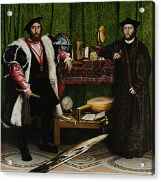 The Ambassadors Acrylic Print by Hans Holbein the Younger
