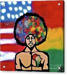 The American African Acrylic Print