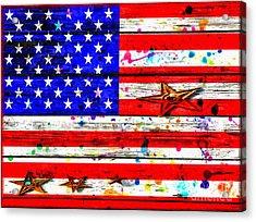 The American Flag Grunge Acrylic Print