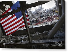 The American Flag Is Prominent Amongst Acrylic Print by Stocktrek Images