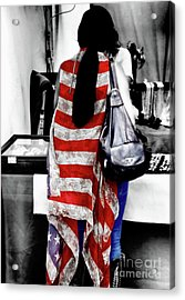 The American  Acrylic Print by Steven Digman