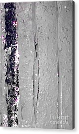 The Wall Of Amethyst Ice  Acrylic Print