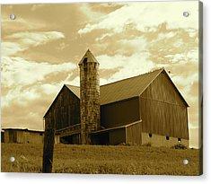 The Amish Silo Barn Acrylic Print