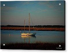 The Anchor Holds 2 Beaufort South Carolina Sailboat Art  Acrylic Print
