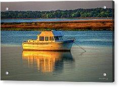 The Anchor Holds Beaufort South Carolina Boat Art Acrylic Print