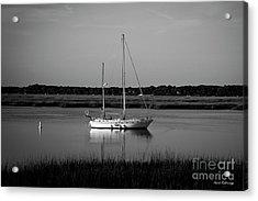 The Anchor Still Holds Beaufort South Carolina Sailboat Art  Acrylic Print