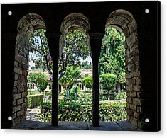 The Ancient Cloister Acrylic Print by Andrea Mazzocchetti