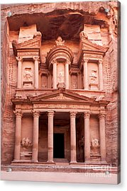 The Ancient Treasury Petra Acrylic Print