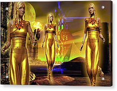 Acrylic Print featuring the digital art The Ancients  by Shadowlea Is