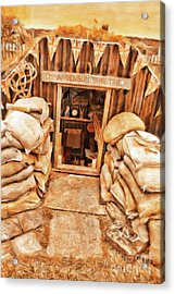 The Anderson Shelter By Sarah Kirk Acrylic Print