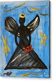 The Angel Of Jazz Acrylic Print by Mary Carol Williams