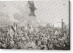The Angry Paris Mob Burning The Royal Acrylic Print