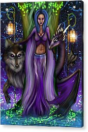 The Animal Goddess Fantasy Art Acrylic Print