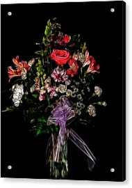 The Anniversary Bouquet Acrylic Print by Carol A Commins