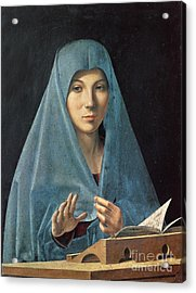 The Annunciation Acrylic Print by Antonello da Messina