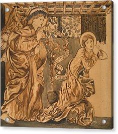 The Annunciation Acrylic Print by Edward Burne-Jones