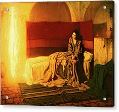Acrylic Print featuring the painting The Annunciation by Henry Ossawa Tanner