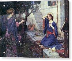 The Annunciation Acrylic Print by John William Waterhouse
