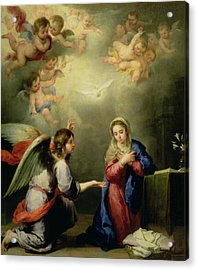 The Annunciation Acrylic Print by Bartolome Esteban Murillo