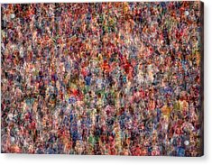 The Anonymous Croud Acrylic Print by Denis Bouchard