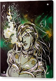 The Anti-heroine Acrylic Print by Ericka Bales